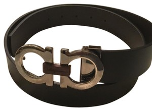 Salvatore Ferragamo brown wood bit Salvatore ferragamo silver buckle