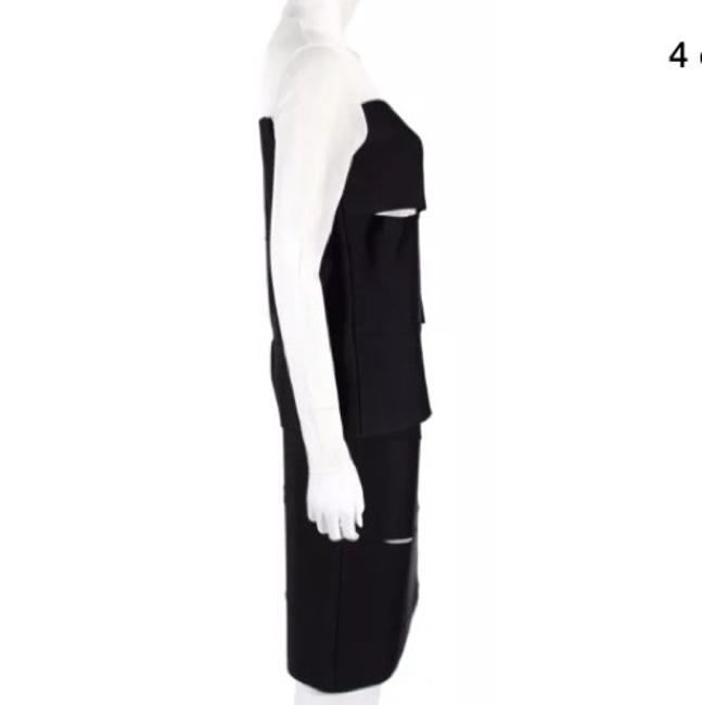 Dior DIOR Fall 2013 Black & White Slit Detail Overlay Bandage Outfit Image 3