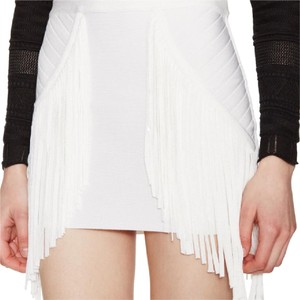 Torn by Ronny Kobo Mini Skirt white