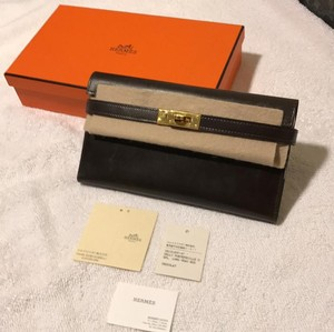 Hermès HERMES KELLY LONG WALLET IN CHOCOLATE