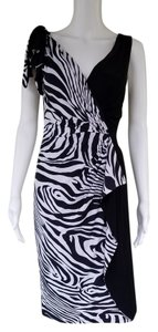 Joseph Ribkoff Slinky Black And White Pull-on Zebra Dress
