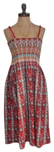 Anthropologie short dress RED Smocked Summer Hazel on Tradesy