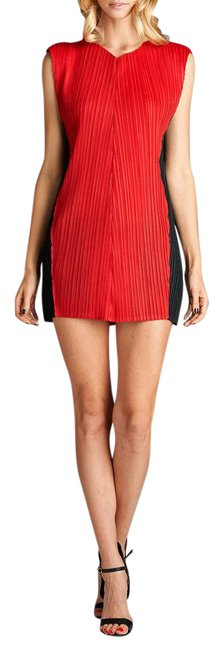 Nabisplace Red Tara Pleated Sexy Mini Short Night Out Dress Size OS (one size) Nabisplace Red Tara Pleated Sexy Mini Short Night Out Dress Size OS (one size) Image 1