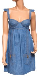 Ingwa Melero short dress Blue 30 Ddm Denim Bustier Sexy on Tradesy