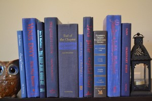 Vintage Style Books - Classic Blue - G637 - Set Of 10