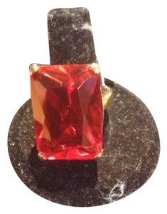 Izumi Large Red Emerald Cut Red Stone Ring