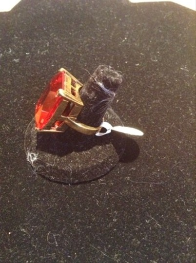 Pearl Izumi Large Red Emerald Cut Red Stone Ring