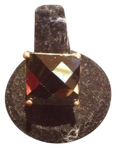Izumi Large Brown Stone And Gold Color Ring