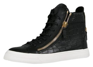 Giuseppe Zanotti Black Croco Leather Athletic
