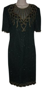 Other Like New- Worn Once Silk Beading Mod Retro Look One Of A Excellent Vintage Dress