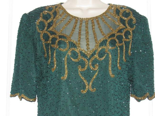 Other Like New- Worn Once Silk Beading Mod Retro Look One Of A Excellent Vintage Dress Image 1