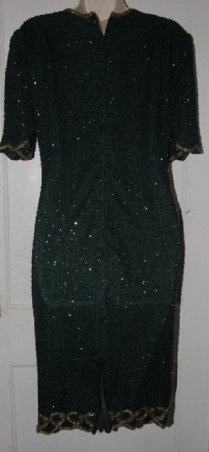Other Like New- Worn Once Silk Beading Mod Retro Look One Of A Excellent Vintage Dress Image 10