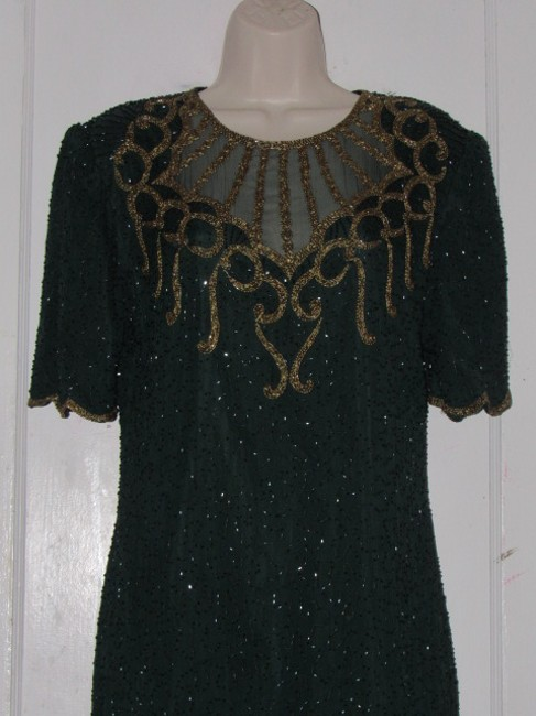 Other Like New- Worn Once Silk Beading Mod Retro Look One Of A Excellent Vintage Dress Image 2