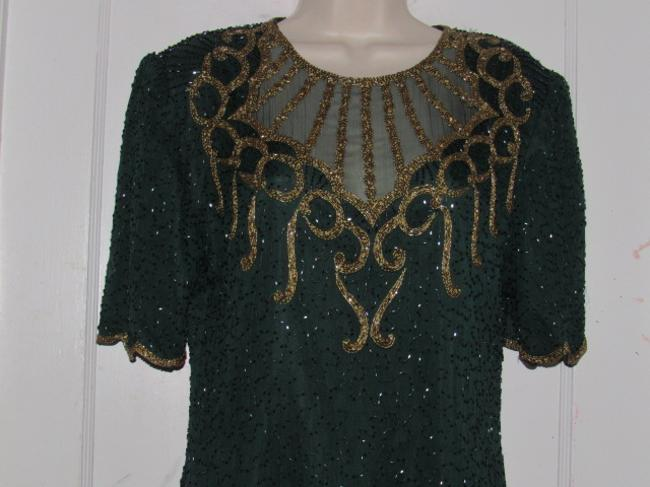 Other Like New- Worn Once Silk Beading Mod Retro Look One Of A Excellent Vintage Dress Image 5