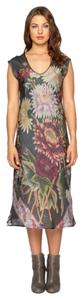 Johnny Was Silk Floral Sleeveless V-neck Dress