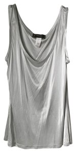 Versace Sheath Sleeveless Top Light Silver Blue Grey
