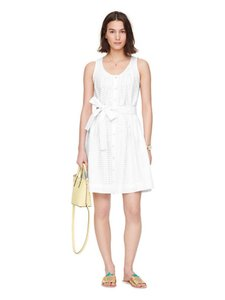Kate Spade short dress White Broomestreet Eyelet Embroodered on Tradesy