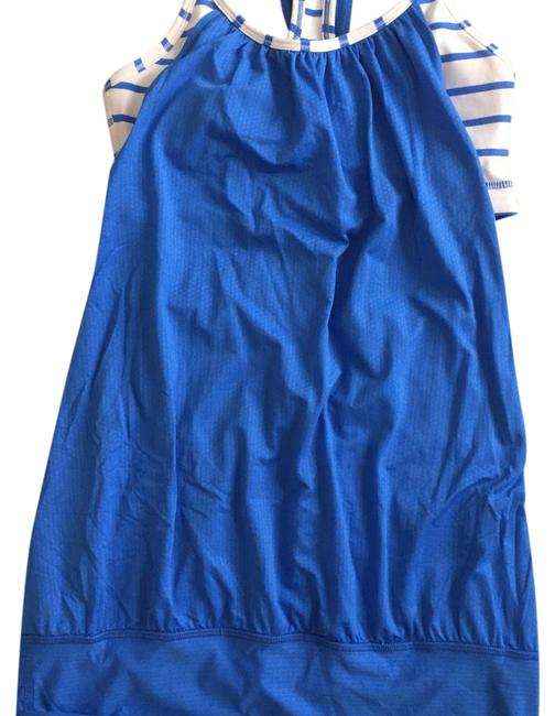 Item - Royal Blue Tank; Blue/White Striped Bra Wild (Discontinued) Activewear Top Size 4 (S)