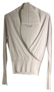 To the Max Silk Cardigan Deep Neck V-neck Sweater