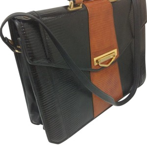 Roche Laptop Legal Briefcase Computer Messenger black/tan Messenger Bag