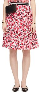 Kate Spade Silk Pleated Minirose Skirt Multi