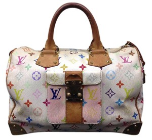 Louis Vuitton Satchel in White/multicolor