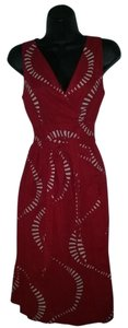 Other short dress Red Vintage Sleeveless Wrap on Tradesy