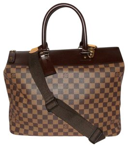 Louis Vuitton Damier Canvas Duffle Greenwich Cross Body Brown Travel Bag