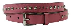 Gucci Gucci 380561 Studded Leather Belt Black 75-30