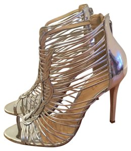 SCHUTZ Prom Night Out Party Special Occasion silver Formal