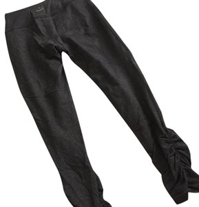 Beyond Yoga 7/8 length ruched charcoal grey pant