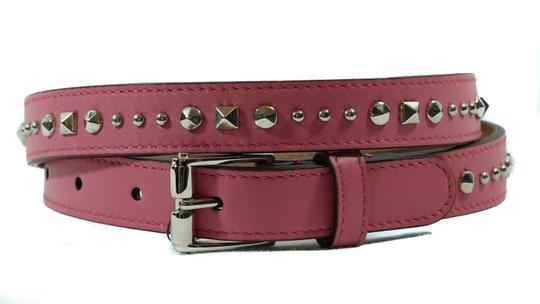 Gucci NEW GUCCI 380561 Studded Leather Belt, Pink 85-34 Image 2