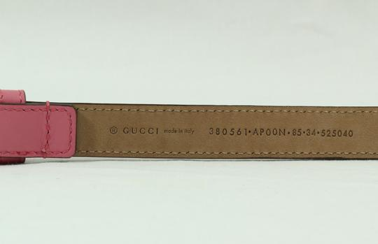 Gucci NEW GUCCI 380561 Studded Leather Belt, Pink 85-34 Image 3