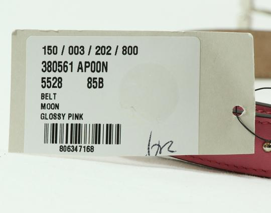 Gucci NEW GUCCI 380561 Studded Leather Belt, Pink 85-34 Image 4