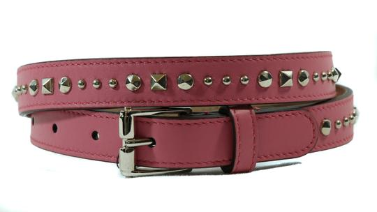 Gucci NEW GUCCI 380561 Studded Leather Belt, Pink 85-34 Image 11