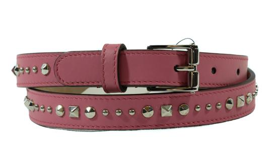 Gucci NEW GUCCI 380561 Studded Leather Belt, Pink 85-34 Image 9