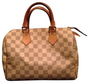 Louis Vuitton Neverfull Azur Speedy Doctor Damier Satchel in White