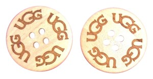 Other TWO (2) Sand UGG Replacement Buttons (30mm) for Adult Boots