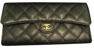Chanel BNWT Chanel Long Classic Flap in Caviar Leather with Gold HW