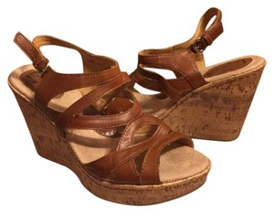 B.O.C. Brown/Tan cork Wedges