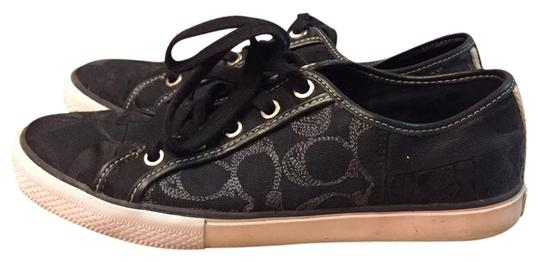 Coach Tennis Designer Black Flats