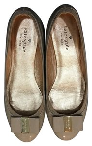 Kate Spade Ballet Casual Patent Leather Beige Flats