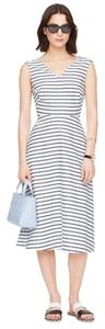 White and Blue Stripe Maxi Dress by Kate Spade