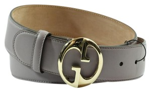 Gucci UCCI 362728 Interlocking G Leather Belt, Lilac 90-36 DISPLAY