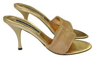 Laundry by Shelli Segal Italian Mules Gold Sandals