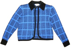 St. John Vintage Knit Blue Jacket