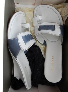 Cole Haan White and Blue Wedges