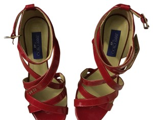 Jimmy Choo for H&M Red Patent Platforms