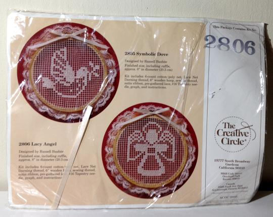 Creative Circle NEW in package 1985 Vintage Creative Circle Needle Craft Lace Kit Model 2806 Lacey Angel