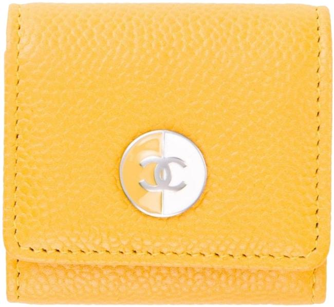 Chanel Yellow Classic Flap Photo Picture Id Key Chain Ring Cc Logo Woc Bag Enamel Wallet Chanel Yellow Classic Flap Photo Picture Id Key Chain Ring Cc Logo Woc Bag Enamel Wallet Image 1